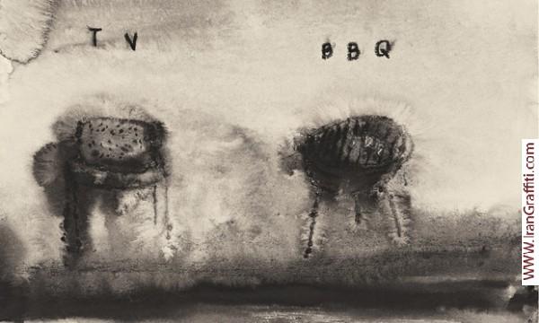 نقاشی آبرنگ اثر دیوید لینچ