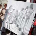 گزارشی از  هنر مند ضد آمریکایی در امریکا