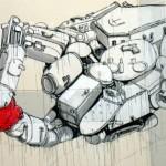 """نقاشی دیواری """"بلو"""" در فرانسه"""